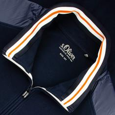 S.OLIVER Sweatjacke - EXTRA lang marine