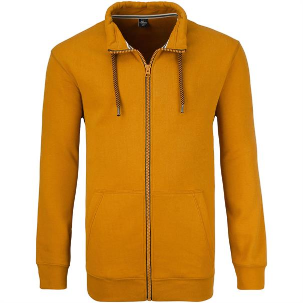 S.OLIVER Sweatjacke gelb