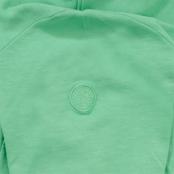 S.OLIVER Sweatjacke grün