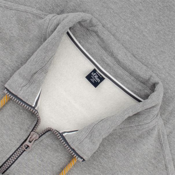 S.OLIVER Sweatjacke grau