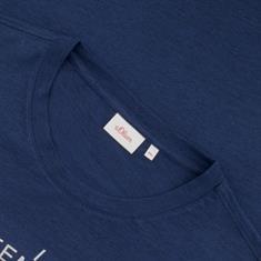 S.OLIVER T-Shirt blau-meliert