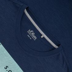 S. OLIVER T-Shirt dunkelblau