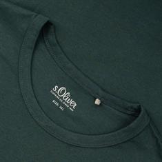 S.OLIVER T-Shirt dunkelgrün