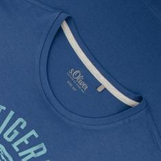 S.OLIVER T-Shirt EXTRA lang blau