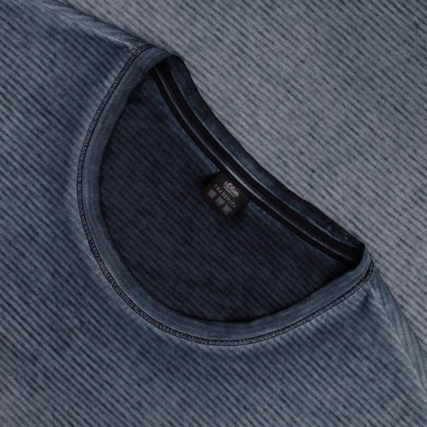 S.OLIVER T-Shirt - EXTRA lang blau