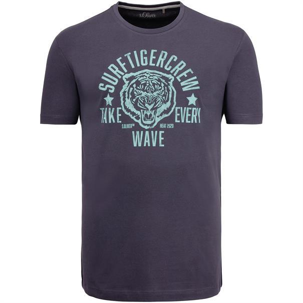 S.OLIVER T-Shirt EXTRA lang grau