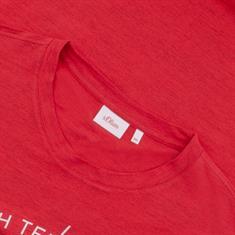 S.OLIVER T-Shirt rot-meliert