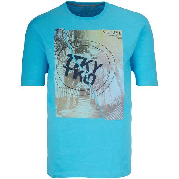 S. OLIVER T-Shirt türkis