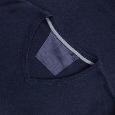 S.OLIVER V-Pullover blau-meliert
