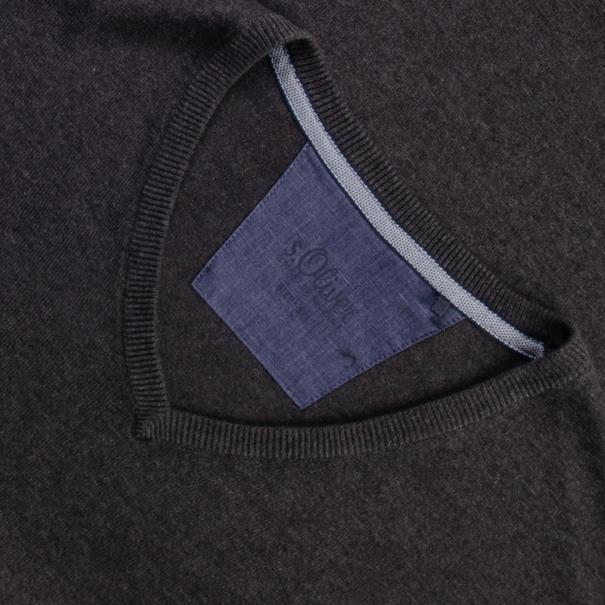 S.OLIVER V-Pullover grau-meliert