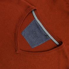 S.OLIVER V-Pullover rostbraun