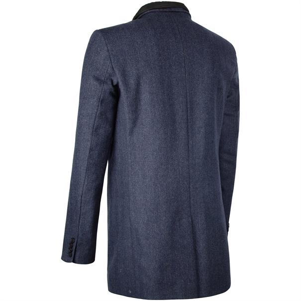 S4 Woll-Mix Mantel blau