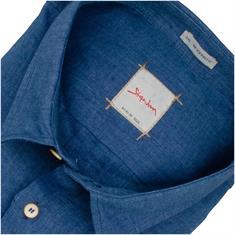 SIGNUM halbarm Freizeithemd jeansblau