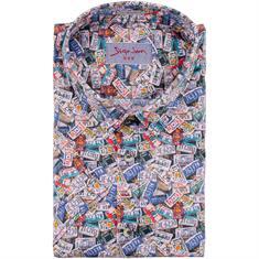 SIGNUM halbarm Freizeithemd - Modern fit blau