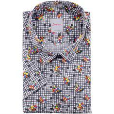 SIGNUM halbarm Freizeithemd - Modern fit grau