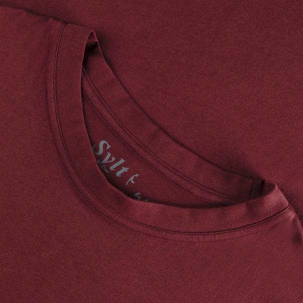 SYLT Basic T-Shirt bordeaux
