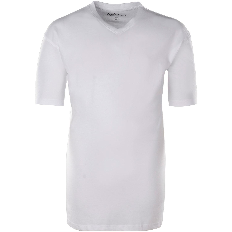 more photos 02716 d17d1 SYLT Basic T-Shirt V-Ausschnitt weiß