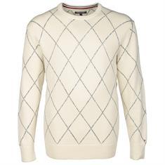 TOMMY HILFIGER Rundhals-Pullover beige