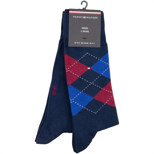 TOMMY HILFIGER Socken, Doppelpack rot