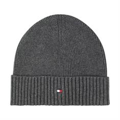 TOMMY HILFIGER Strick-Mütze grau