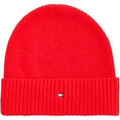 TOMMY HILFIGER Strick-Mütze rot