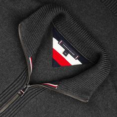 TOMMY HILFIGER Strickjacke anthrazit