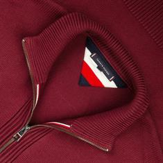 TOMMY HILFIGER Strickjacke bordeaux