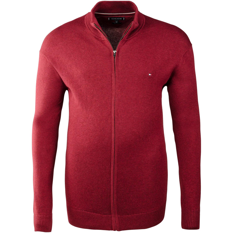 f43779eb502665 TOMMY HILFIGER Strickjacke rot Herrenmode in Übergrößen kaufen