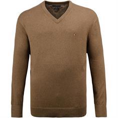 TOMMY HILFIGER V-Pullover braun