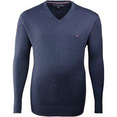 TOMMY HILFIGER V-Pullover dunkelblau