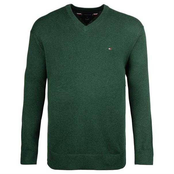 TOMMY HILFIGER V-Pullover dunkelgrün