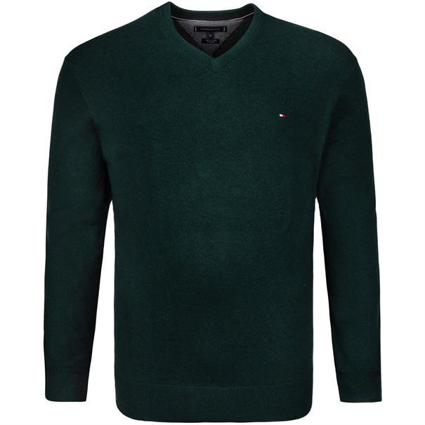 TOMMY HILFIGER V-Pullover grün