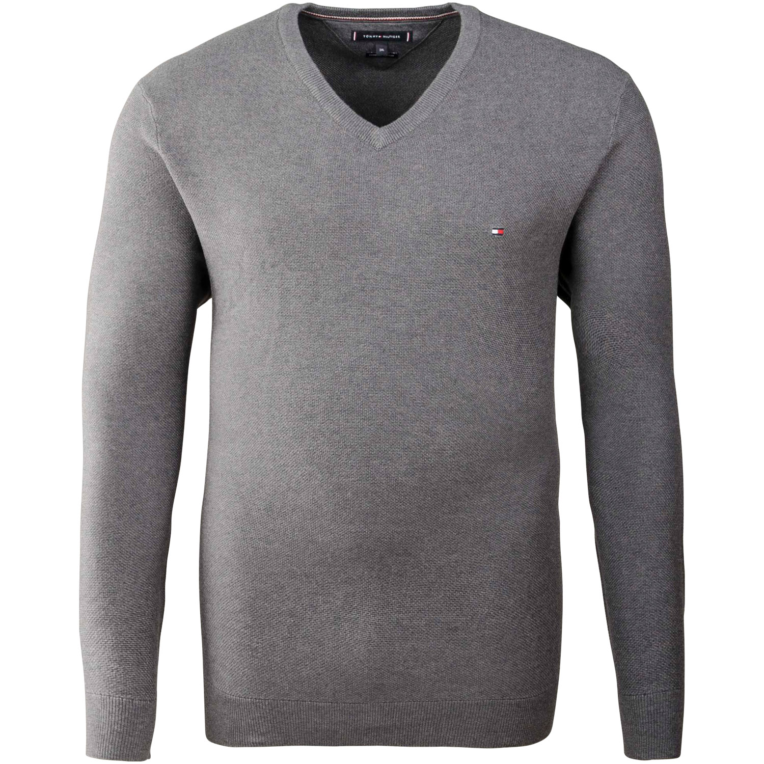 more photos aafc2 94c87 TOMMY HILFIGER V-Pullover grau