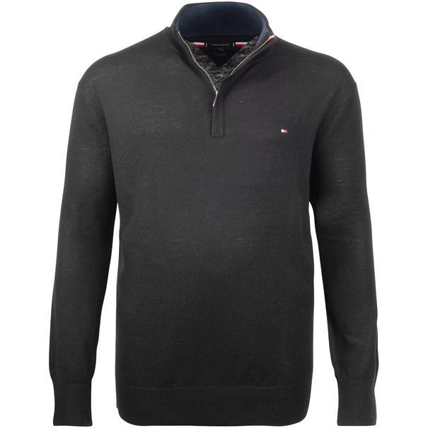 TOMMY HILFIGER Zipper-Pullover schwarz